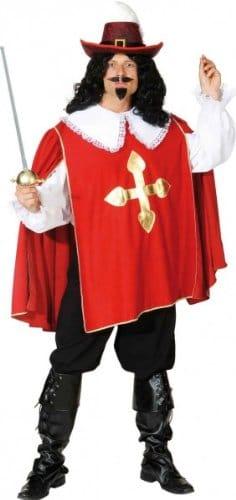 D'Artagnon rot – Hemd, Überwurf und Hose - 1