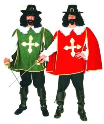 D'Artagnon rot – Hemd, Überwurf und Hose - 2