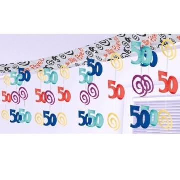 Deckendeko: 50. Geburtstag, bunt, 265 x 30 cm - 1