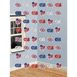 Deckenhänger, Großbritannien, verschiedene Motive, 210 cm, 6er-Pack - 1
