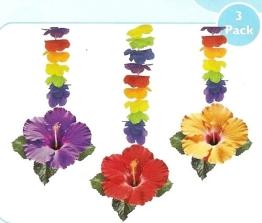 """Deckenhänger, """"Hawaiiblüten"""", 75 cm, 3er-Pack - 1"""