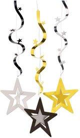 Deckenhänger, Hollywood-Sterne, Wellenform, 75 cm, 3er-Pack - 1