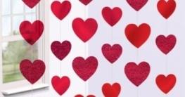 Deckenhänger mit Herzen, 200 cm, 6-Pack - 1