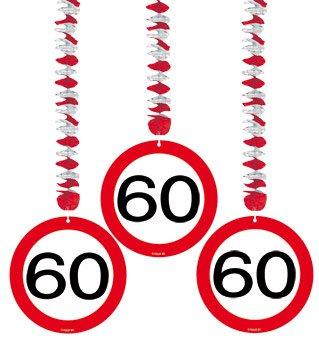 Deckenhänger: Rotorspirale, Verkehrsschild 60, 75 cm, 3er-Pack - 1
