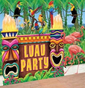 Deko-Set: Wandfolien für eine Hawaii-Party/Beachparty - 2