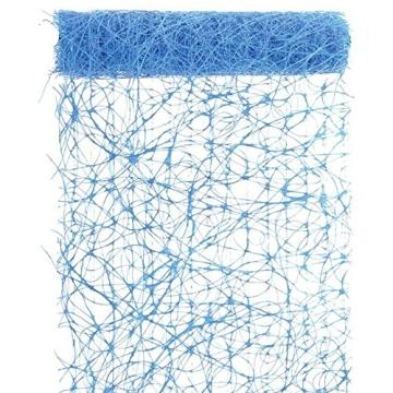 Deko-Sisal, himmelblau, 15 m, 17 cm breit - 1