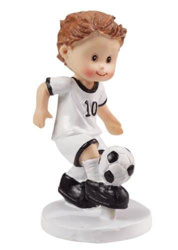 Dekofigur: Fußballer mit Ball, Polyresin, 85 mm - 1