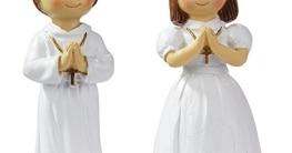 Dekofigur zur Kommunion/Konfirmation: Mädchen, Polyresin, 85 mm - 1
