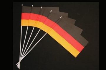 Deutschland-Fahne: Papierfähnchen, 50er-Pack - 1