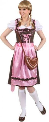 """Dirndl: Dirndl-Kombination """"Gigi"""", Kleid, Bluse und Schürze, rosa-braun - 1"""