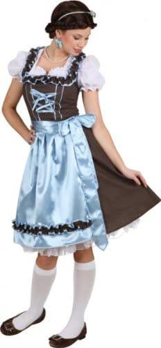 """Dirndl """"Hannerl"""", Kleid, Bluse und Schürze, türkis-braun gepunktet, verschiedene Größen - 1"""