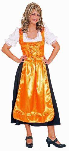 """Dirndl """"Traudl"""" orange-schwarz : Kleid und Schürze - 1"""