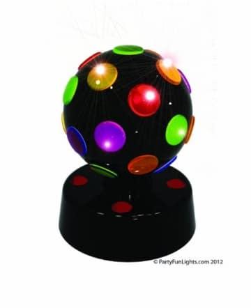 Disco-Licht: Disco-Leuchte mit verschiedenen Lichtfarben, schwarz, 170 x 135 mm - 1