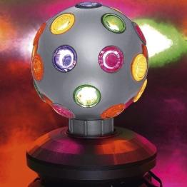 Disco-Licht: Disco-Leuchte mit verschiedenen Lichtfarben, silber, 170 x 135 mm - 1