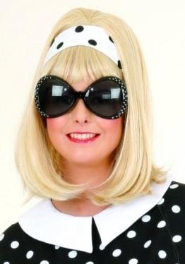 Dunkle Sonnenbrille, trendy, schwarz - 1