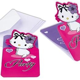 Einladungskarten, Charmmy Kitty mit Herzen, 6 Stück - 1
