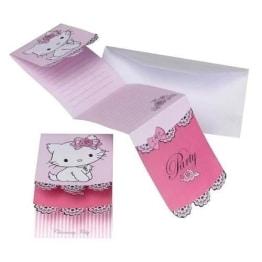 Einladungskarten mit Umschlag, Hello Kitty/Charmmy Kitty, 6 Stück - 1