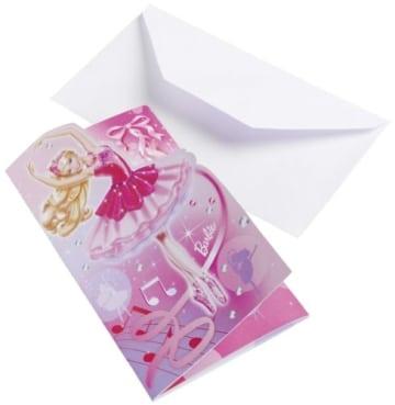 """Einladungskarten, Motiv """"Barbie Pink Shoes"""", 6 Stück - 1"""