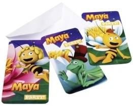 "Einladungskarten, Motiv ""Biene Maja"", 6 Stück - 1"