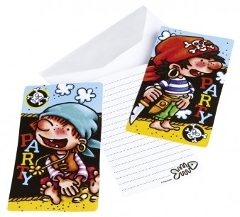 """Einladungskarten, Motiv """"Kleiner Pirat"""", 6 Stück - 1"""