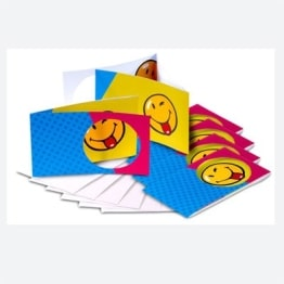 Einladungskarten SMILEY, 6er-Pack Dekoration Smileys Spass - 1