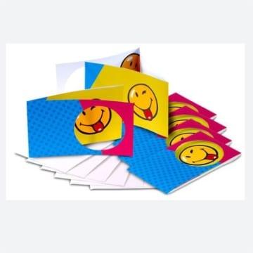 Einladungskarten SMILEY, 6er-Pack Dekoration Smileys Spass - 1