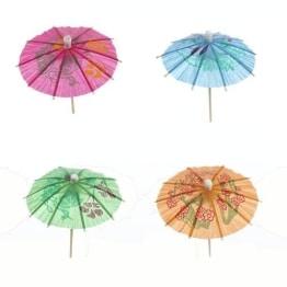 Eisschirmchen: Deko-Schirm, Papier, 10 Stück - 1