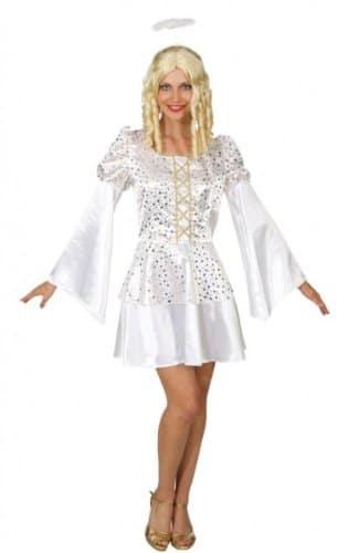 Engel – Kleid mit goldenen Sternen - 1