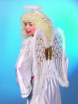 """Engel-Kostüm: Set """"Himmlischer Bote"""" mit Flügeln und Heiligenschein - 1"""