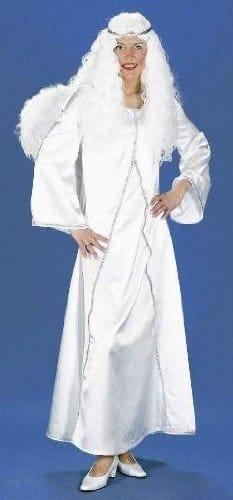 Engelkostüm: Engelkleid, weiß-silber - 1