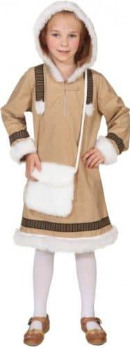 Eskimo Mädchen : Kleid mit Kapuze - 1