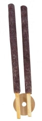 Fackel: Wachsfackeln, mit Handteller, 30 cm, 2er-Pack - 1