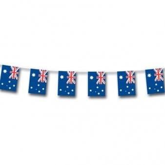 Fahnenkette, 12 Australien-Fähnchen, Folie, 3 m - 1