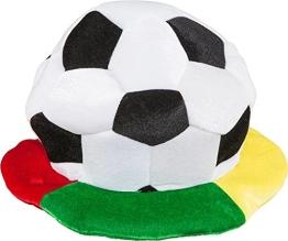Fan-Mütze: Fußball-Mütze mit großem Fußball - 1