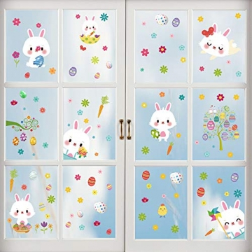 Fensterdeko Ostern Fensterbilder Frühling Ostern Fensteraufkleber 2