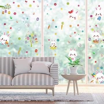 Fensterdeko Ostern Fensterbilder Frühling Ostern Fensteraufkleber 3