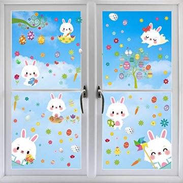 Fensterdeko Ostern Fensterbilder Frühling Ostern Fensteraufkleber 4