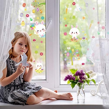 Fensterdeko Ostern Fensterbilder Frühling Ostern Fensteraufkleber 8
