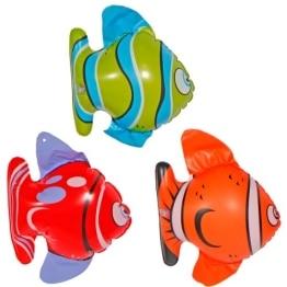 Fisch, aufblasbar, 15 cm, 3 Stück - 1