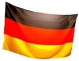 Flagge: Deutschland-Fahne mit Metallösen, Polyester, 150 x 90 cm - 1