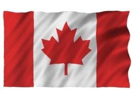 Flagge: Fahne von Kanada, Polyester mit Metallösen, 150 x 90 cm - 1