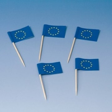 Flaggen-Picker: Europa-Fahne, 80 mm, 200er-Pack - 1