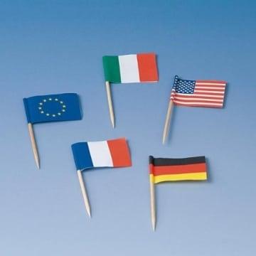 Flaggen-Picker: verschiedene Länder, 68 mm, 100er-Pack - 1