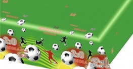 Folien-Tischdecke Fussballparty, Deko WM 2010 - 1