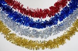 Foliengirlande: blaue Fransen-Girlande, Metallic-Folie, 3 m - 1