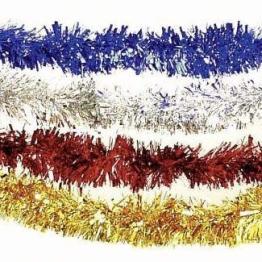 Foliengirlande: rote Fransen-Girlande, Metallic-Folie, 3 m - 1