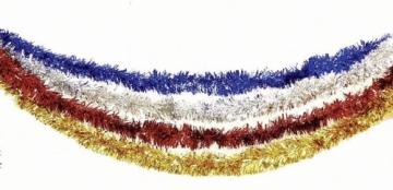 Foliengirlande: rote Fransen-Girlande, Metallic-Folie, 3 m - 2