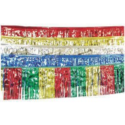 Foliengirlande: silberne Fransen-Girlande, Metallic-Folie, 10 m - 1