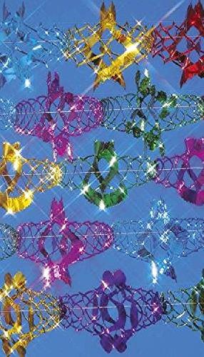 Foliengirlande, verschiedene Farben und Formen, 30 cm Durchmesser, 6 m Länge - 1