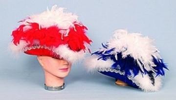 Funkenhut, blau mit Silberborte, Boa, Kopfweite 57 - 1